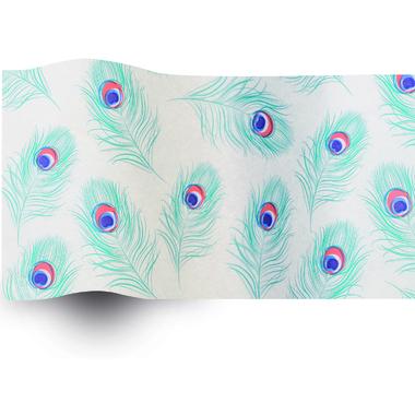 papier de soie plume de paon