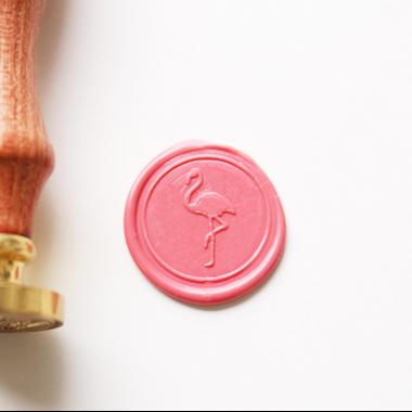 cachet de cire flamant rose
