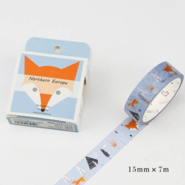 washi tape renard