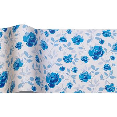 papier de soie fleurs bleues