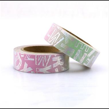 washi tape alphabet