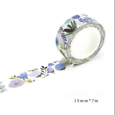 scotch fleur bleu