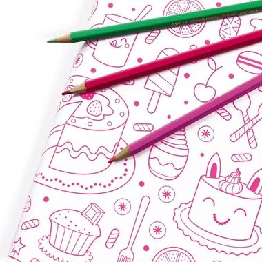 papier cadeau coloriage fille