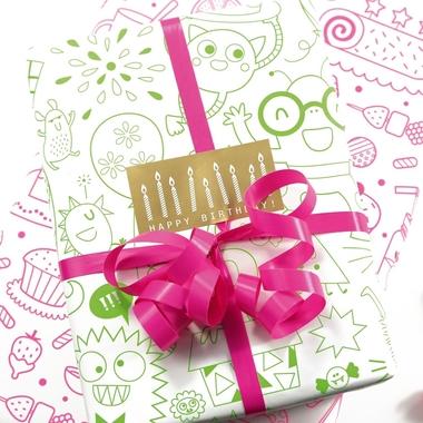 papier cadeau colorier anniversaire