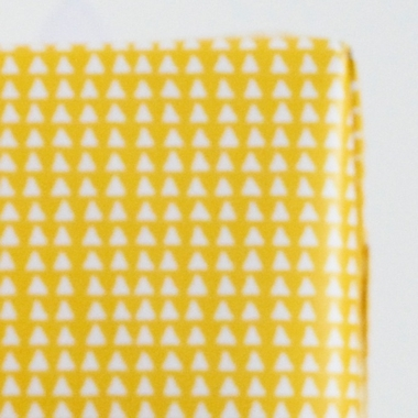 papier cadeau triangle jaune