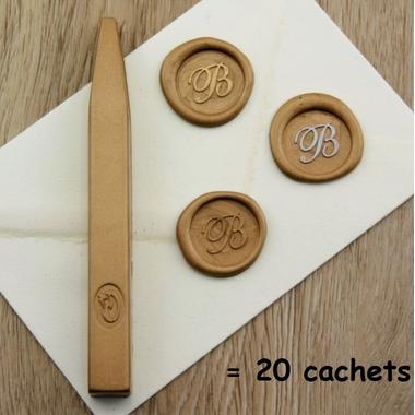 cire pour faire un sceau doré facilement