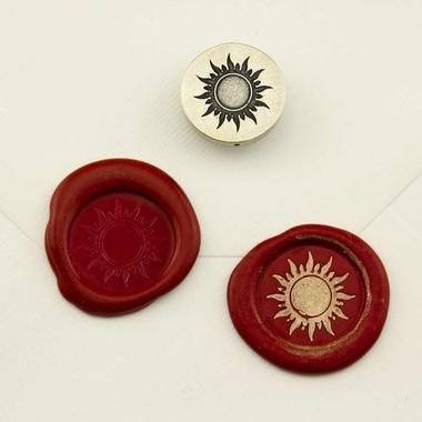 sceau de cire soleil