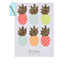"""Ananas"" - 6 stickers fluo glitter"