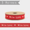 """With love"" - 3m de joli ruban"