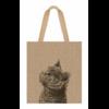 """Shopping bag"" - Grand sac en jute chat"