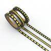 """""""Slim tape"""" - 3 rouleaux de masking tape or et noir"""