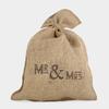 """Mr & Mrs"" - Grand sac en jute mariage"