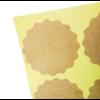 108 autocollants dentelés en papier kraft ø3,8cm