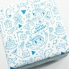 """""""Bleu"""" - Papier cadeau à colorier"""