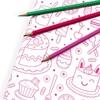 """""""Rose"""" - Papier cadeau à colorier"""