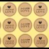 100 stickers pour création artisanale {noir}