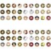 """""""Rétro"""" - 60 oeillets vintage autocollants"""