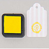 """DIY"" - Petit encreur jaune pour tampon"