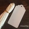 """""""Blanc"""" - 100 étiquettes tag festonnées"""