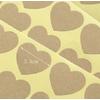 108 stickers kraft en forme de coeur