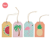 """""""Tropical"""" - 12 étiquettes tag avec leurs ficelles"""