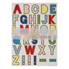 """""""Alphabet"""" - 10 planches de lettres en couleur et paillettes"""