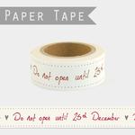 washi tape noel