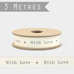 ruban coton with love