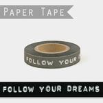 washi tape follow your dream