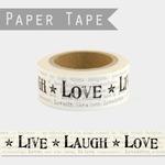 washi tape live laugh love