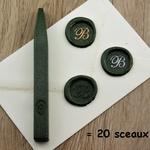 cire vert metallique pour sceau de cire