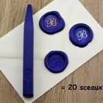 cire bleue naturelle pour sceau