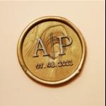 sceau personnalisé avec une date
