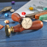 sceau de cire avec une étoile