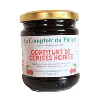 Confiture de cerises noires - 250 gr