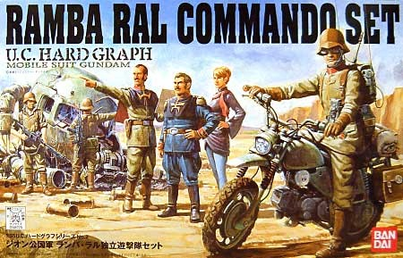 BANDAI GUN22963 GUNPLA UCHG 1/35 ZEON RAMBA RAL COMMANDO SET