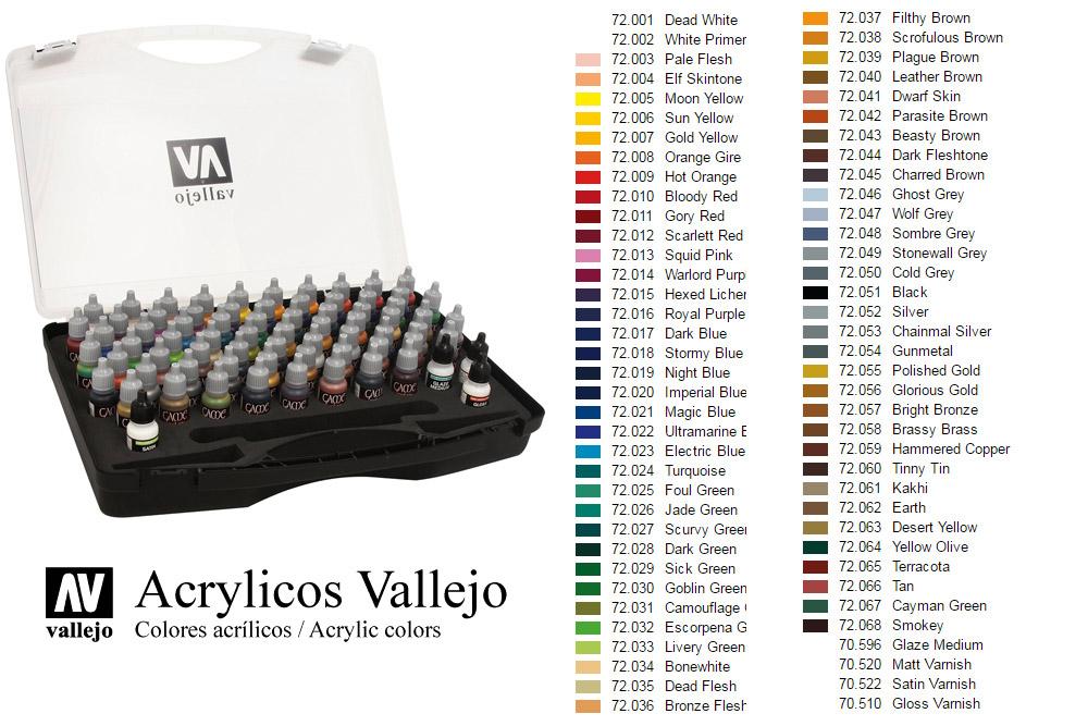 VALLEJO GAME COLOR BOX SET 72172