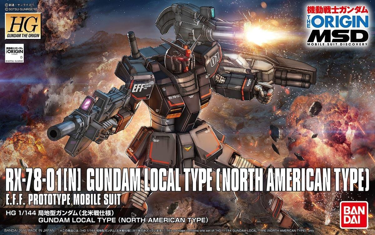 BANDAI HG 1/144 RX-78 GDM LOCAL TYPE NORTH AMERICAN GUNDAM