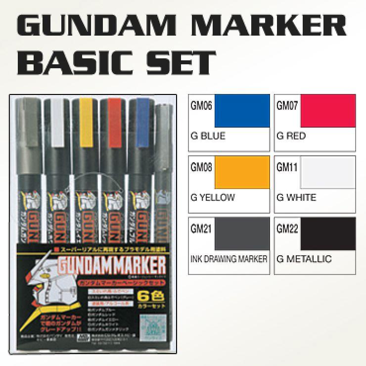 BANDAI GUNPLA MARKER GUNDAM SET 6