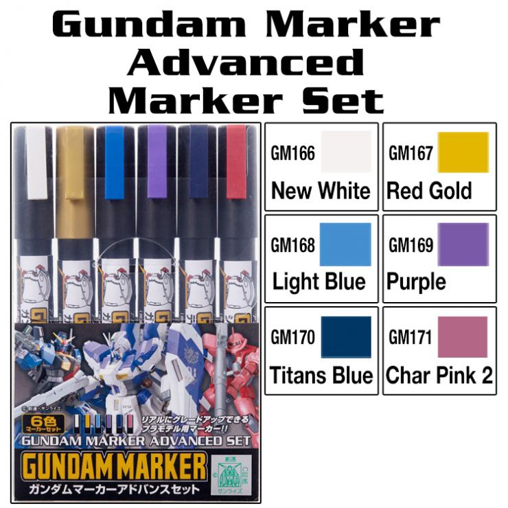 BANDAI GUNDAM ADVANCED SET 6 PCS