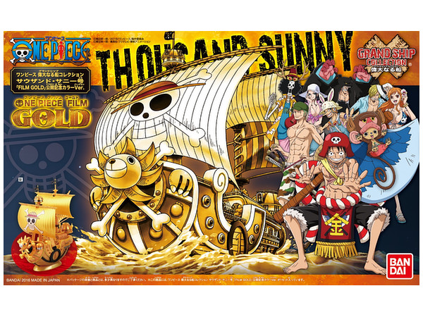 BANDAI MAQUETTE ONE PIECE GOLD THOUSAND SUNNY