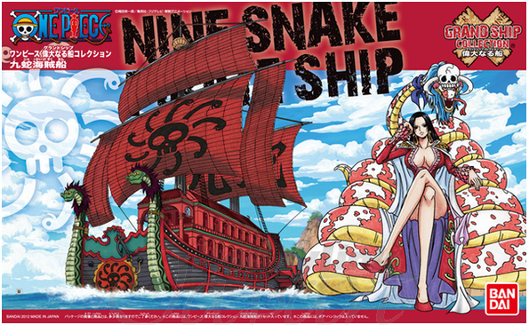 BANDAI MAQUETTE ONE PIECE NINE SNAKE SHIP