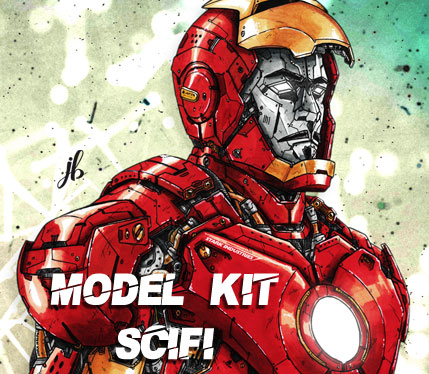 Sélection Model KIt SciFI Mecha Cinéma (Illustration Iron Man par Julien Briand)