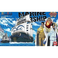 BANDAI MAQUETTE ONE PIECE MARINE WAR SHIP
