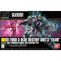 BANDAI GUN80573 GUNPLA HG 1/144 BLUE DESTINY UNIT3 EXAM GUNDAM