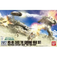 BANDAI GUN33347 GUNPLA 1/144 HGUC ZAKU GROUND ATTACK SET