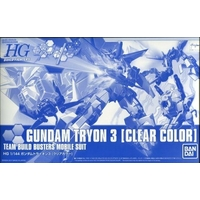 BANDAI GUN800002 GUNPLA HG 1/144 GUNDAM TRYON 3 CLEAR COLOR