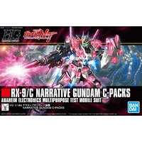 BANDAI GUN64854 GUNPLA HG 1/144 GUNDAM NARRATIVE C PACK