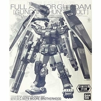 BANDAI GUN81369 GUNPLA MG 1/100 FULL ARMOR GUNDAM VER. KA HALF MECHANICAL CLEAR VER.