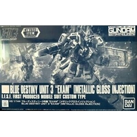 BANDAI GUN68538 GUNPLA HG 1/144 GUNDAM BLUE DESTINY EXAM 3 METALLIC GLOSS INJECTION